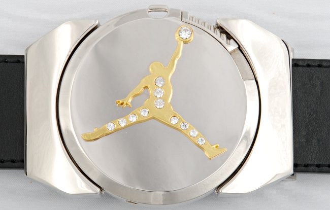 golden air jordan lighter belt buckle